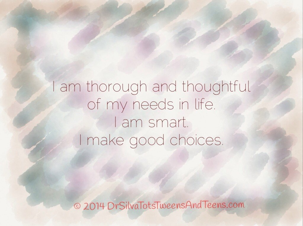 Good Choices Affirmation